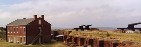 Fort Clinch in Fernandina Beach, Florida Overlooks Cumberland Sound