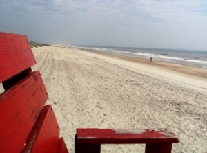 View of North Beach from Life Guard's Chair, Fernandina Beach, Florida