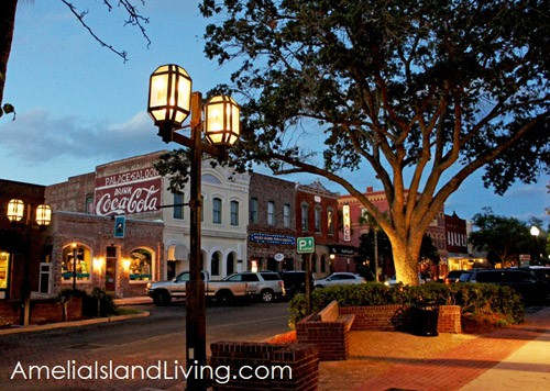 Evening Scene of Historic Centre Street, Fernandina
