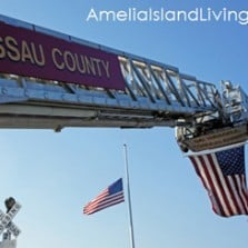 Flags at Amelia Riverfront, Fernandina 9-11 Memorial Ceremony