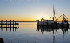 Sunset Shrimp Boat Docked Near Fernandina Harbor Marina