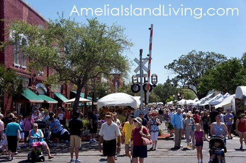 Front & Centre Street, historic Fernandina during Shrimp Festival