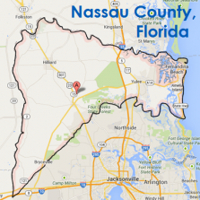 Map Nassau County Florida