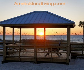 Main Beach Park, Fernandina, Sunrise at Boardwalk