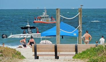 Ocean Search Effort at Fernandina's Main Beach For Missing Man (May 30, 2015)