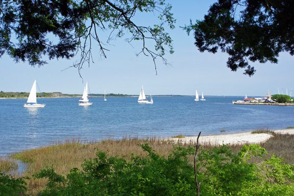 Old Town Fernandina View of Amelia River Sailboats