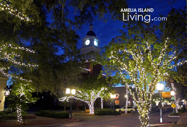 Downtown Fernandina Christmas Glow. Special Lighting Display Thru Jan. 3, 2016