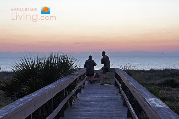 Couple Awaiting Sunrise at the Beach on Amelia Island, Florida, image