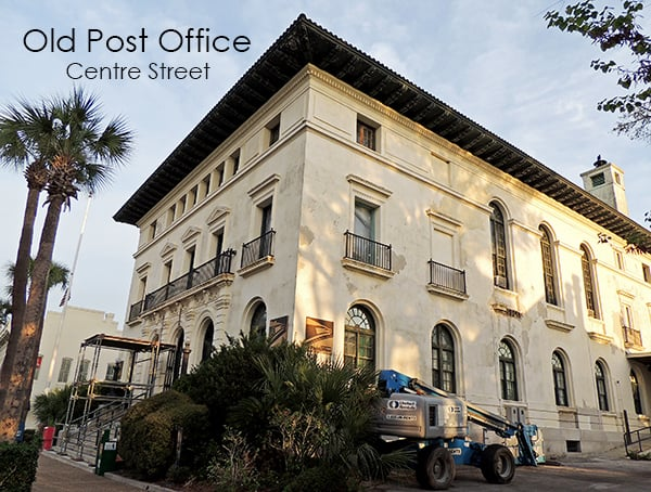Downtown Fernandina's Old Post Office Circa 1912 During Restoration