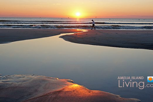 Perfect Beginning, A Sunrise Beach Walk, Amelia Island, Florida Photo