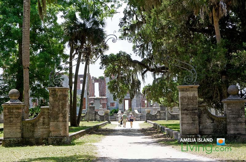Entry Gate, Dungeness Ruins on Cumberland Island, Georgia photo