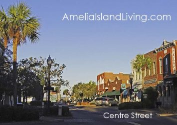 Looking West Toward Riverfront, Downtown Fernandina