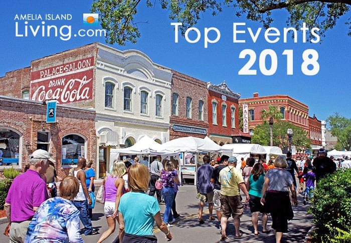Downtown Fernandina Art Booths During Shrimp Festival