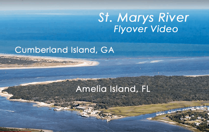 Mouth of St. Marys River Is Between Amelia & Cumberland, Two Barrier Islands