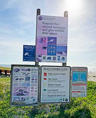 Main Beach Signs, City of Fernandina Beach
