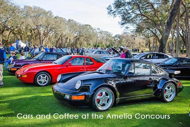Amelia Concours Cars and Coffee will be held March 9, 2019