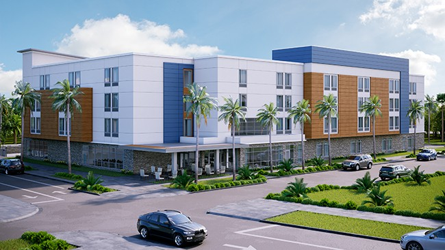 Rendering of Wildlight's future hotel (image by Impact Properties) to be built in Yulee area of Nassau County, Florida