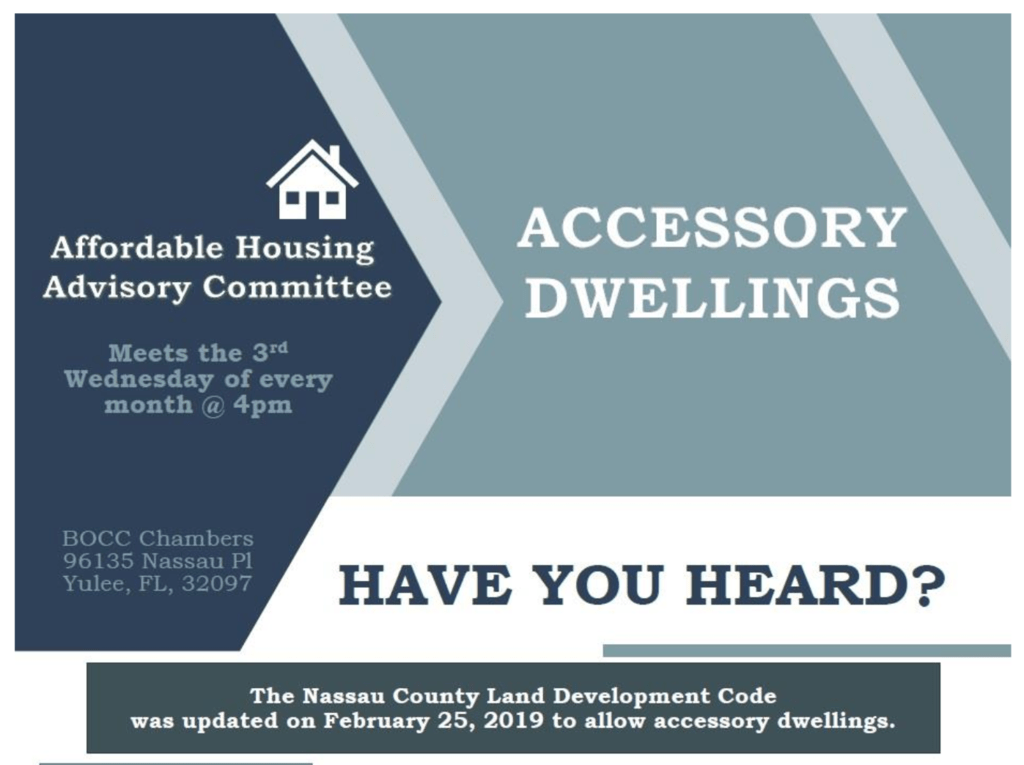 Nassau County, Florida Allows Accessory Dwellings