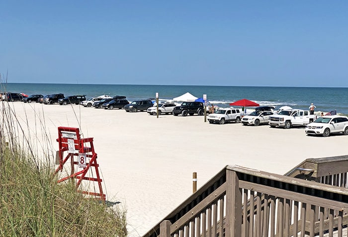 Fernandina Beach Seaside Park Beach Driving Vehicles 5-24-2019