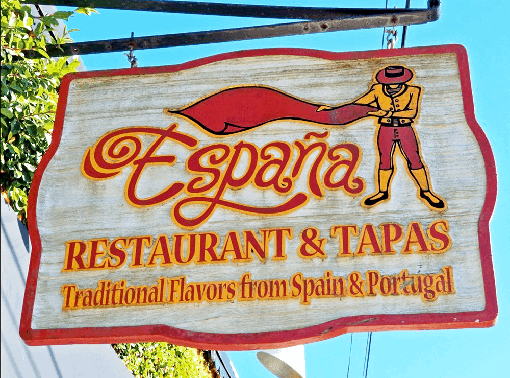 Espana restaurant, Fernandina Beach dining, downtown historic district, Amelia Island, Florida.