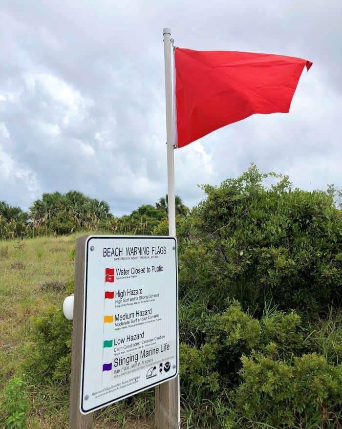 Amelia Island Beach Conditions Red Flag High Hazard
