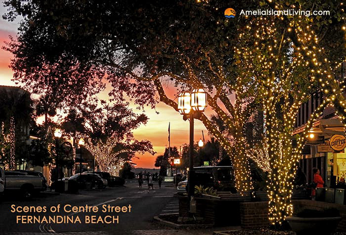 downtown Fernandina Beach Christmas Lights December