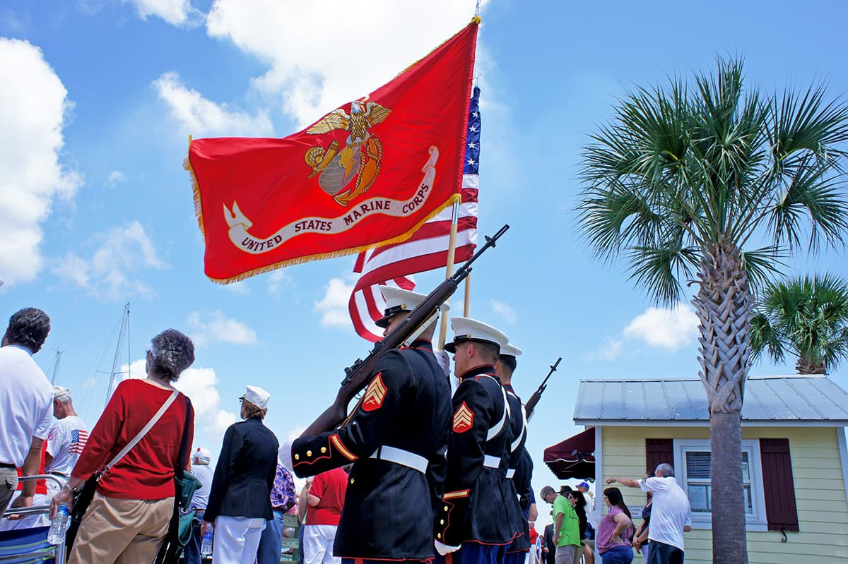 Memorial Day Ceremony, hosted by U.S. Marine Corps, Fernandina Beach