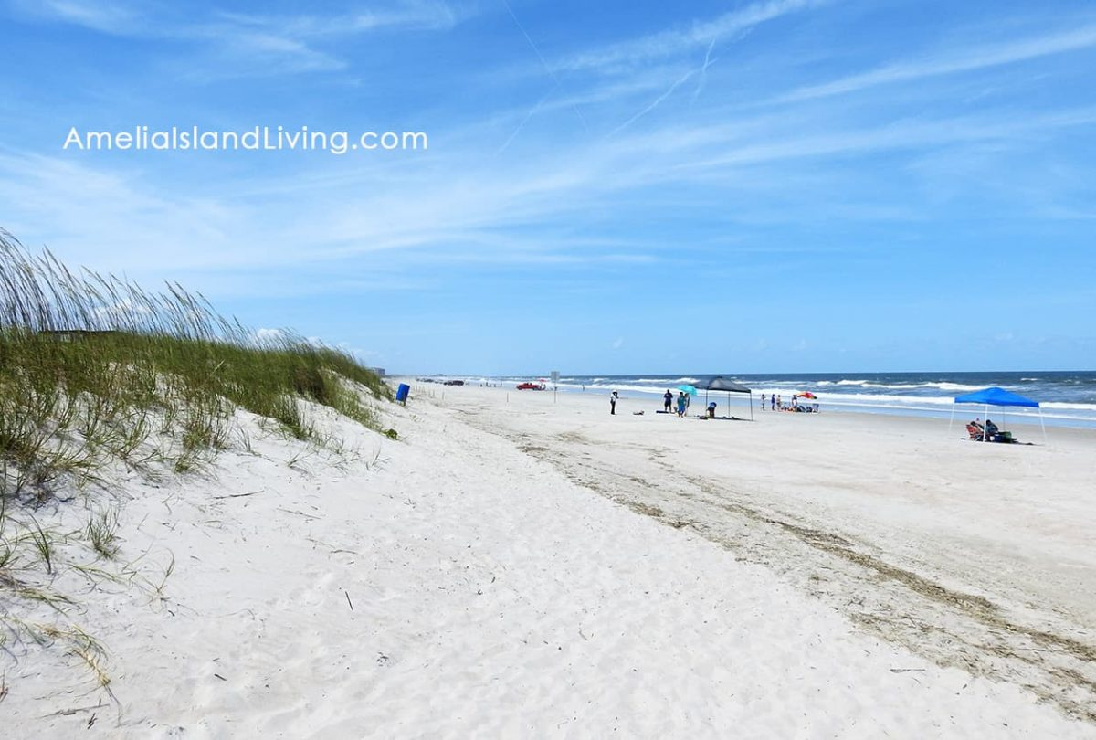 Amelia Island beach in Nassau County, FL at American Beach. Photo by AmeliaIslandLiving.com magazine