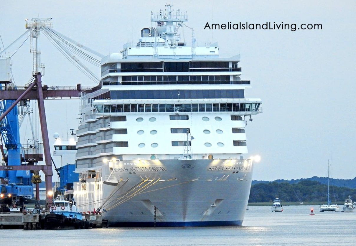 Seven Seas Explorer Cruise Ship, Port of Fernandina