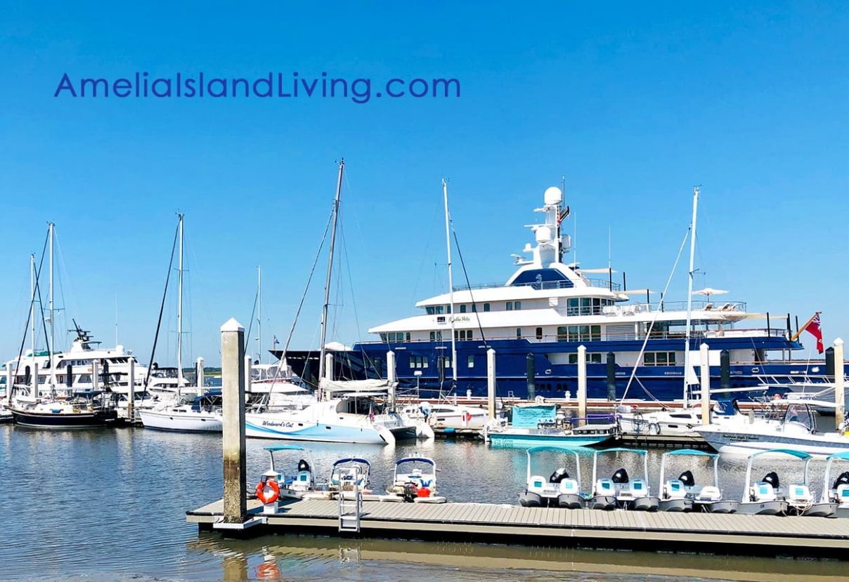 Bella Vita Mega Yacht, Fernandina Beach, FL. Photo by Amelia Island Living magazine.