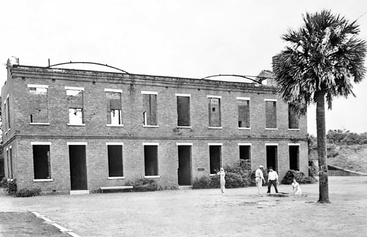 Old barracks building at Fort Clinch, Fernandina, Florida. 1939. State Archives of Florida image.